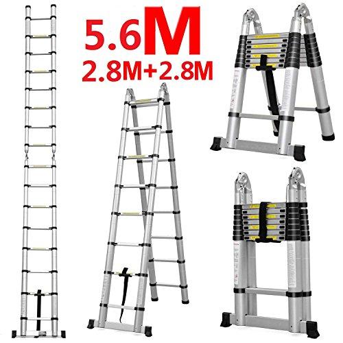 DIY Doppelte Teleskopische Faltbare Leiter 5