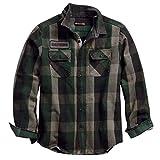 HARLEY-DAVIDSON Men's Appliqué Plaid Slim Fit Long Sleeve Shirt - 99096-18VM (XL)