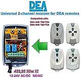 DEA compatible receptor. 2-canales 433,92Mhz universal de radio módulo para DEA MIO TR2 / TR4, DEA MIO TD2 / TD4 transmisores. 12-24V AC/DC, NO/NC 433