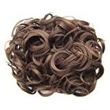 PIXNOR Courts bouclés Chignon Bun Extension cheveux peignes pince à cheveux en queue de cheval Extension (lumière rouge)