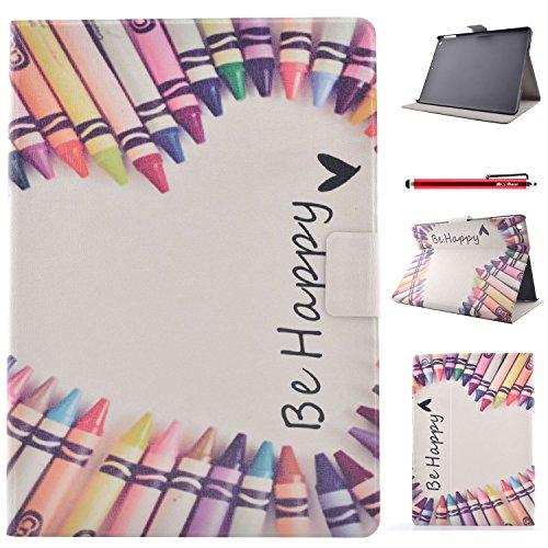 iPad 5 / iPad Air Hülle, BasicStock Ultra Slim Soft Silikon + PC Hybrid Smart Hülle Schutzhülle Cover Gehäuse für iPad 5 / iPad Air (Buntstift)