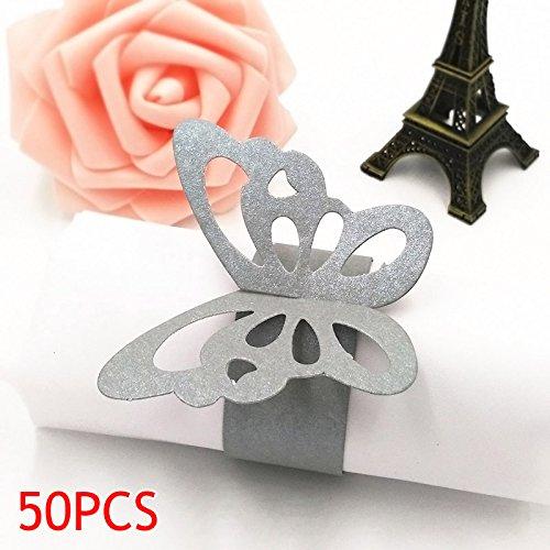 ing 3D Serviettenring aus Papier Tischdekoration für Party Hochzeit Weihnachten Geburtstag ()