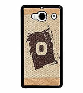 FABCASE Premium alphabet O brownish colour salwood corners arial bold font Printed Hard Plastic Back Case Cover for Xiaomi Redmi 2S