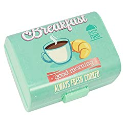"""COM-FOUR® Brotdose""""Breakfast"""" für Unterwegs, Lunch-Box für Kinder, mit Trennwänden, 17 x 13 x 10 cm (01 Stück -""""Breakfast"""")"""