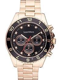 Reloj hombre Louis Villiers acero negro 45 mm lvag5877 – 12