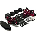 XUNJIAJIE 1 Set CNC Aluminium&Kohlefaser 1:10 Sakura D4 CS Sports AWD Car Kit für 3Racing Sakura D4 AWD Drift Car