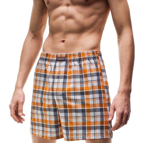 Cornette Herren Klassisch Boxershorts CR-002/1 Orange (542002)