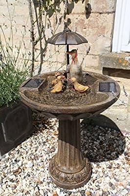 Smart Garden Solar Duck Family Umbrella Fountain by Smart Garden