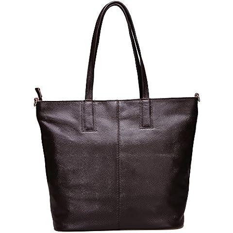 Damero Cuoio molle delle donne Tote Bag / borsa con tracolla