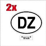 2x Autocollant sticker drapeau oval code pays voiture moto DZ al Djazair ALGERIE