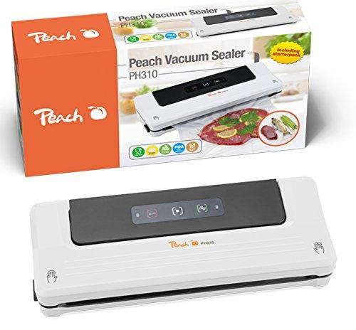 Peach PH310 Vakuumiergerät   automatische Vakuum Stop Funktion   Sous Vide Garen  für längere Haltbarkeit und Frische Peach Küche