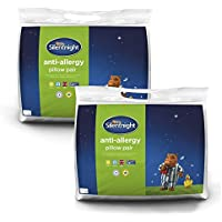 Silentnight Anti-Allergy Pillows Pack of 4, Microfibre, White, Twin