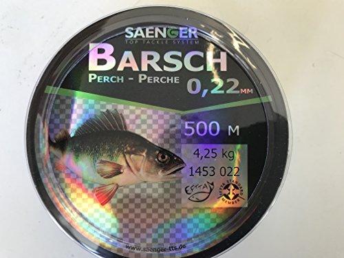 """Specitec \"""" Barsch \"""" Schnur Ø 0,22mm -Farbe: Light green transparent - Angelschnur monofil Zielfischschnur"""