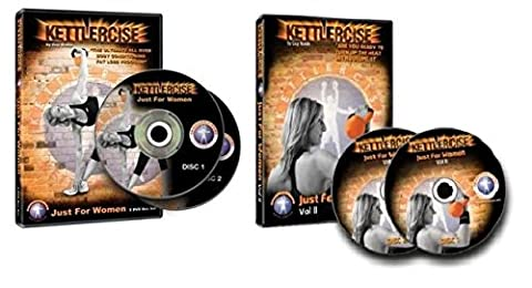 Kettlercise DVD Just For Women Vol I und Vol II, ultimatives Kettlebell Fettververbrennungs-Programm für Frauen, in englischer Sprache