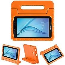 LEADSTAR Samsung Galaxy Tab E 7.0 Lite Ligero y Super Protective Antichoque EVA Funda Diseñar Especialmente para los Niños para Samsung Tab 3 7.0 Lite T110 T111 & Tab E 7.0 Lite T113 - Naranja