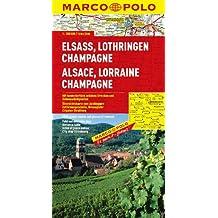 MARCO POLO Karte Elsass, Lothringen, Champagne