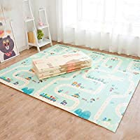 Non slip Baby mat 150 * 200 * 1 CM baby playmat Foldable Foam Puzzle Mats Kid Toddler Crawl Playmat with storage bag exercise mat