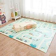 Non slip Baby mat 150 * 200 * 1 CM baby playmat Foldable Foam Puzzle Mats Kid Toddler Crawl Playmat with stora