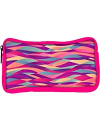 Snoogg Eco Friendly Canvas Mosaic Abstract Wave Background Colorful Abstract Hand Drawn Pattern Student Pen Pencil...