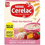 Nestlé CERELAC Baby Cereal with Milk, Wheat-Rice Mixed Fruit – From 10 Months, 300g BIB Pack