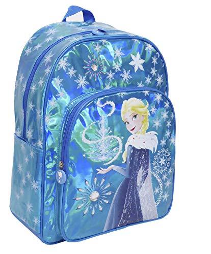 Toy Bags Mochila Infantil Frozen Elsa Brillante/Mochila Disney Brillante Mochila Elsa Frozen, Azul