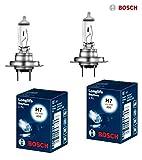 2x Bosch LongLife Daytime H7 55W 12V Halogen Lampen Set original weiß 1987302078 Abblendlicht Fernlicht Nebelscheinwerfer