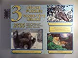 Animals - 3 Deluxe Puzzles : Tiger, Junger Bär, Große Eule [Ings. 2500 Teile, 3 Puzzles].