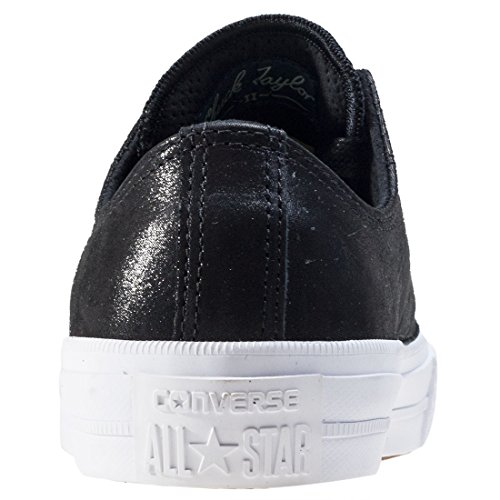 Converse Chuck Taylor All Star II Black Leather Trainers Black White