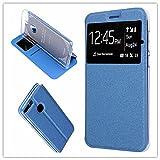 MISEMIYA Huawei P Smart/Huawei Enjoy 7S Hülle–Nur, Cover Magnet Sport Halterung, Blau