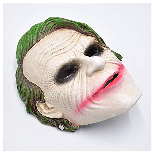 YaPin Resin Terrorist Clown Maske männlich Lächeln Batman Adult Horror Cosplay verkleiden Sich Dark Knight Film Maske