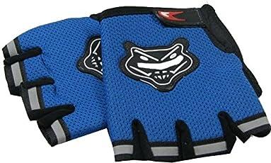 Adraxx Super Half Finger Cycling Gloves Bike Hand Gloves(Blue)