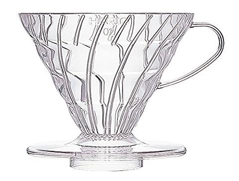 Hario VD-02T 1-Piece Plastic Coffee Dripper, Clear
