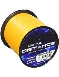 Ultima Unisex e5274Rango de larga distancia Casting y mar pesca línea, fuego naranja, 0,38mm-18.0LB