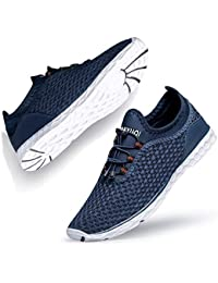 Lavibelle Unisex Aqua Water Shoes Quick Dry Beach Trainers for Mens Womens