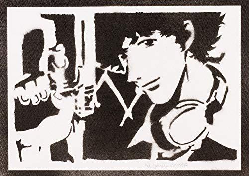 Spike Spiegel Cowboy Bebop Poster Plakat Handmade Graffiti Street Art - Artwork