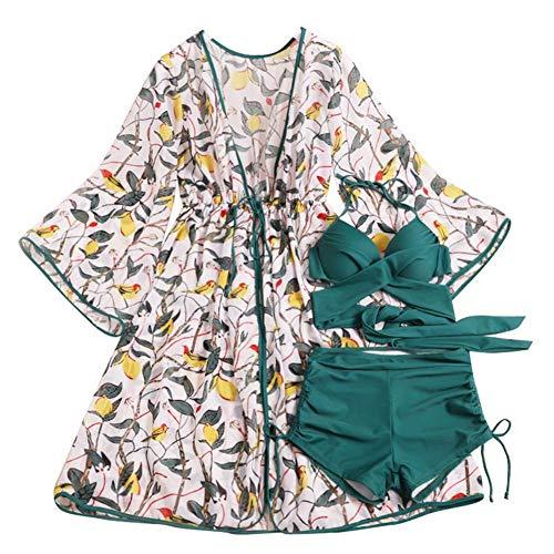 Elegante Drei Stück Anzug (QIAO Bikini - und DREI Stück Badeanzug - Frauen Kleine Brust - DREI - Punkte - zusammenhält, sexy Mode)