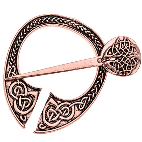 F Fityle 1 Stück Vintage Nordische Wikinger Brosche Muster Brosche Metall Kostüm Pins Modeschmuck - Antikes ()