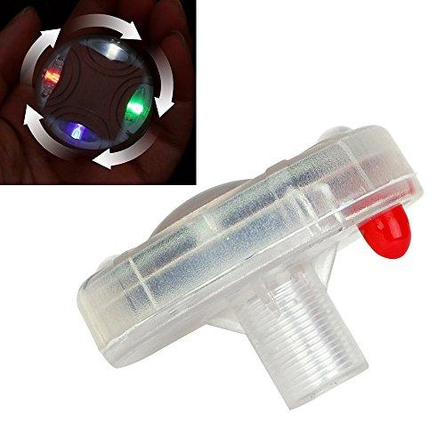 Pkw-Ventillicht, Deko-Lampe für Ventile, Radlicht, Reifenventilkappen, solarbetrieben, LED-Licht, 1 Stück (bitte länderspezifische Rechtsvorschriften beachten)