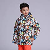 ZYSMC Jungs Baumwollkleidung, Winter konvergiert warme Hosen, Dicke Dämmung, Wasserdichten und winddichten Skianzug,100