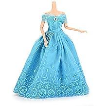 37YIMU® Hecho a mano Moda Fiesta de boda Vestido de vestidos y ropa para Barbie Muñeca de regalo de Navidad