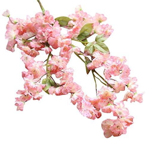 Prevently Natürliche Getrocknete Blumen,Kirschblüte Pflaumenblüte Artificial Fake Cherry Blossom Silk Flower Bridal Hydrangea Home Garden Decor, Weihnachten Halloween (Colour D) (Decor Garden Halloween)