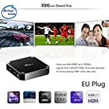 SODIAL X96 Mini 4K TV Box Android 7.1.2 Internet Media Player 2.4GHz WiFi 16G prise de l'UE