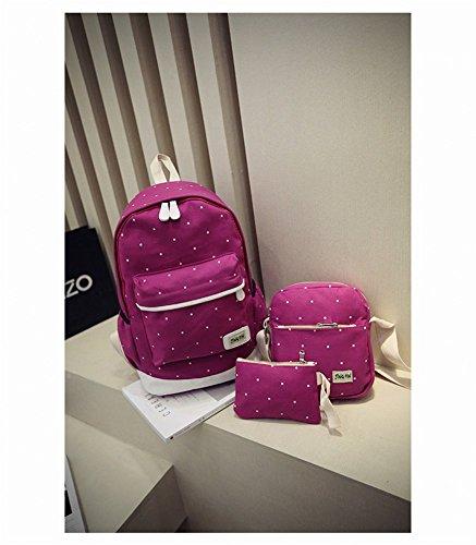 Remeehi , Damen Rucksackhandtasche, schwarz (Grau) - JXQ0691-7 violett