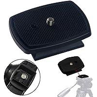 Universal DSLR SLR Camera Tripod Quick Release Plate / Shoe | 1/4 Screw Thread | 4.4cm x 4.4cm Base