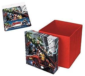 Los Vengadores (Avengers) Caja taburete plegable de almacenamiento (Suncity) (AVD402214)