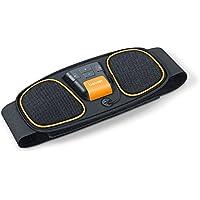 Beurer EM32 Electroestimulador EMS Cinturón Abdominal,5 programas de Entrenamiento, 2 electrodos Agua sin