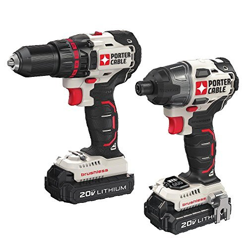 PORTER-CABLE PCCK618L2 20V MAX 2 -Tool Brushless Lithium Drill/Impact Driver Combo Kit by PORTER-CABLE - 2-tool Combo Kit
