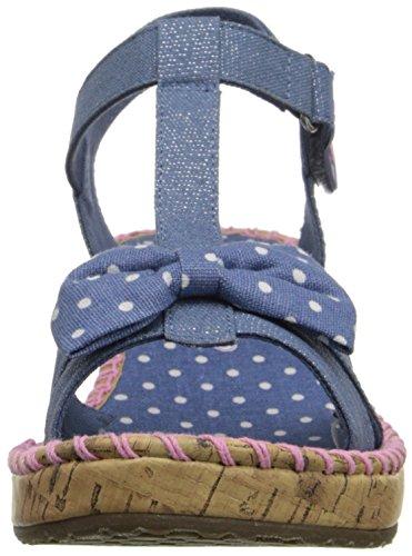 Skechers Tikis Dots N Dazzle, Sandales Bout Ouvert Fille Bleu (Dnpk)