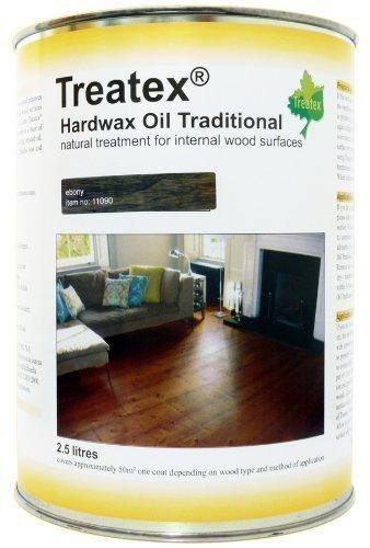 Treatex - Ebenholz Hartwachs Öl Töne. 2.5 Liter. Schützt & Verbessert die natürliche Schönheit von Holz