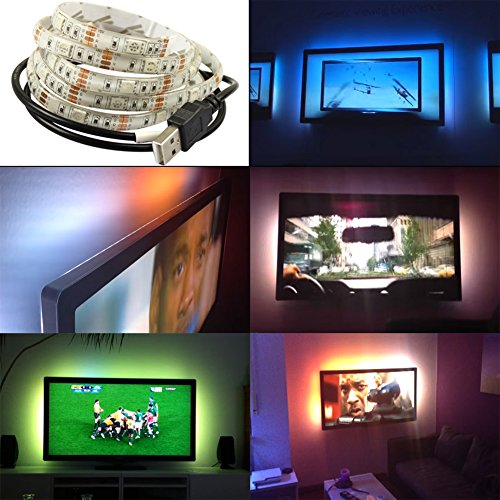 Goes well DC5 V 5050 30LEDS 100 cm TV sfondo beieuchtung USB strisce LED Strip Set Band Barra Barra luminosa luce Backlight Warmes Weiß - IP65
